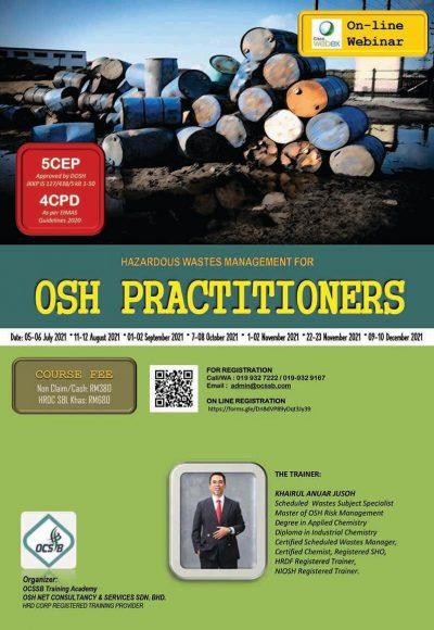 Brochure ONLINE Hazardous Waste for OSH Practitioners rev1-1 copy
