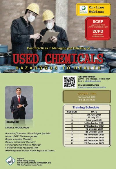 Brochure ONLINE Managing and Handling of USED Chemicals rev1-1