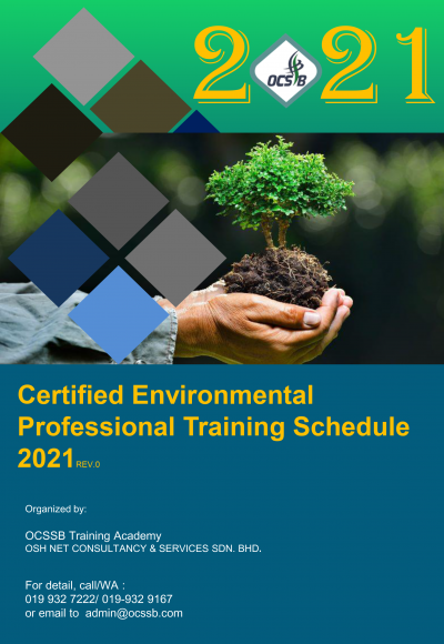Certified Environmental Professional Training Schedule 2021