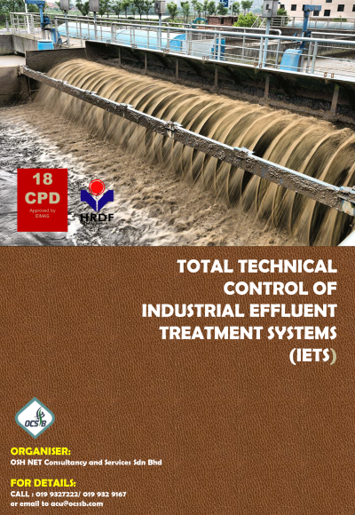 TOTAL TECHNICAL CONTROL OF INDUSTRIAL EFFLUENT TREATMENT SYSTEMS (IETS)